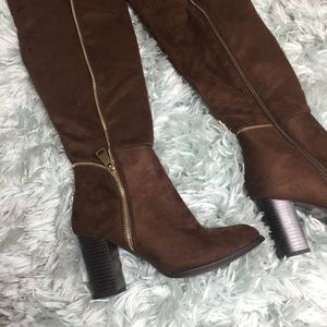 Shoes - Brown high boots size 6 1/2